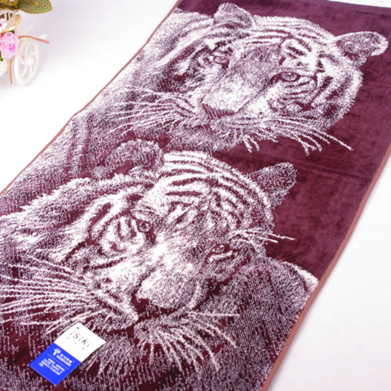 36*72cm Designer Tiger Cotton Terry Hand Towels for Adults,Printed Soft Luxury Pattern Bathroom Hand Towels,Toallas de Mano,T780(China (Mainland))