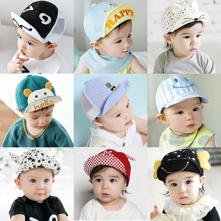 baby hat Child cap spring and summer sun hat baby boy and girl sun visor baby 6-24 months baby hat tide cap more styles(China (Mainland))