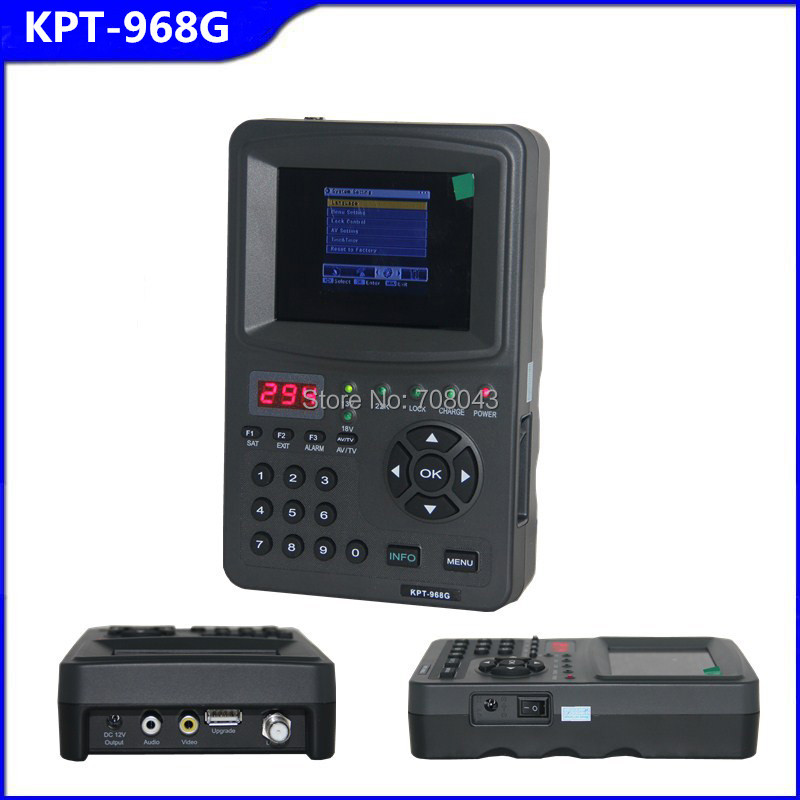 Free shipping KPT-968G DVB-S FTA Digital Satellite Finder Meter TV Signal Receiver For setting(China (Mainland))