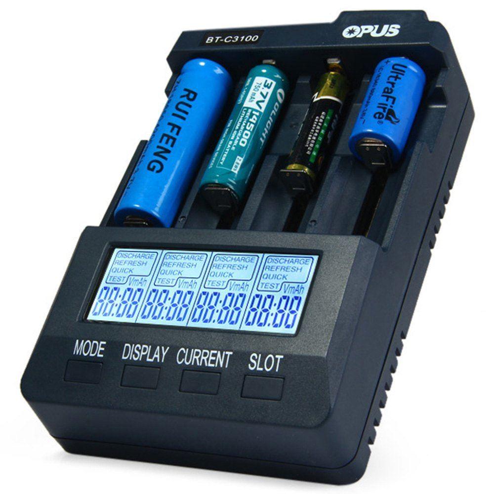 2016 New version HOT SALE Original Opus BT-C3100 V2.2 Li-ion Digital NiCd NiMH AA AAA 17670 18650 Battery Charger ( US/EU Plug )(China (Mainland))