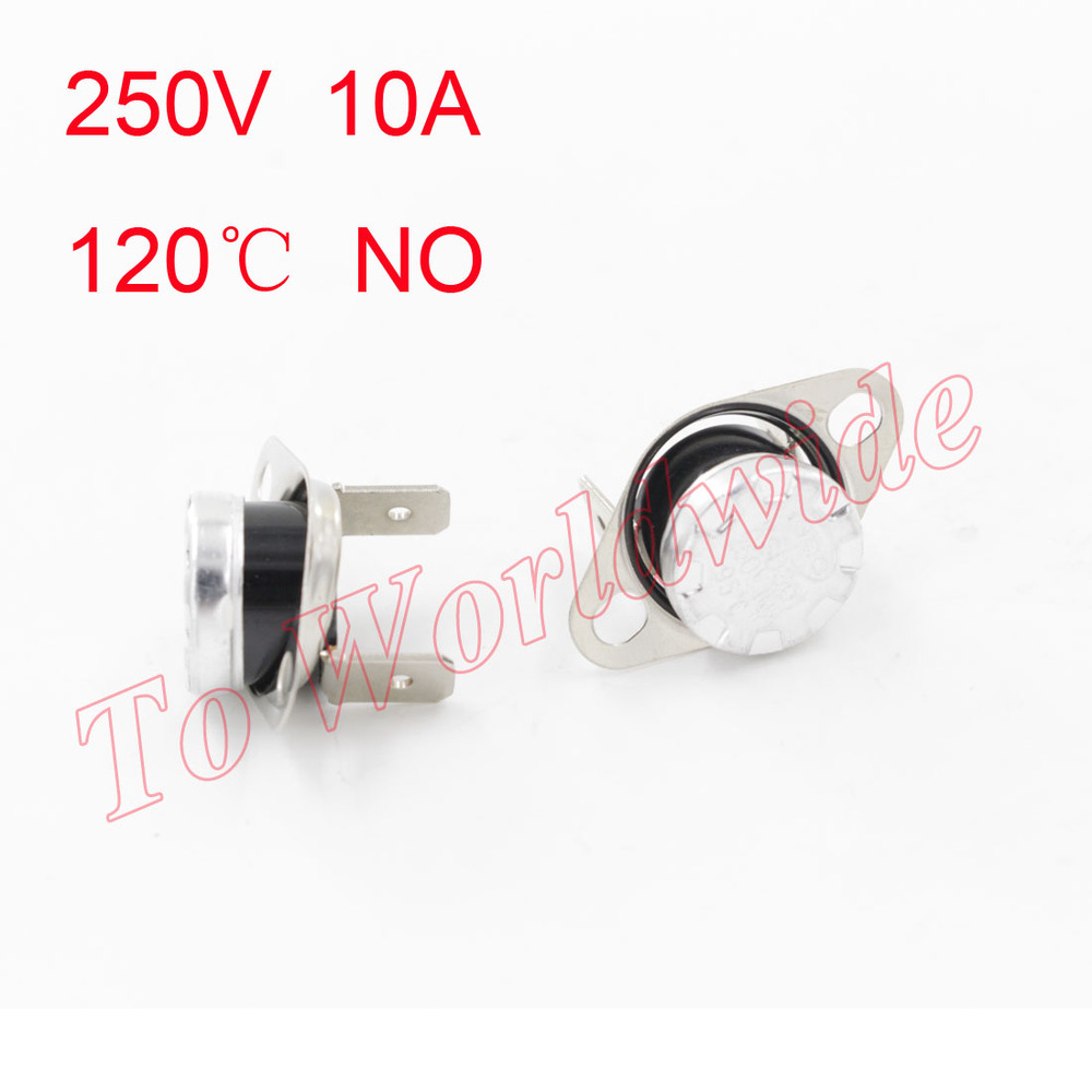 Free Shipping KSD301 120C 250V/10A NO Normally Open Bend Temperature Switch<br><br>Aliexpress