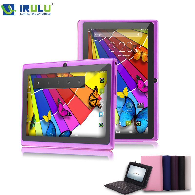 "Гаджет  IRULU 7"" Brand Tablet PC 8GB ROM Dual Core Android 4.2 Tablet Dual Camera OTG USB 3G WIFI w/Red Keyboard Case 2015 New Arrival None Компьютер & сеть"