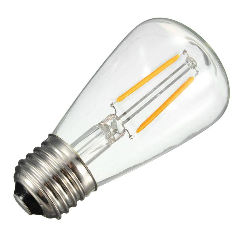 New Arrival E27 ST48 COB LED Vintage Antique Clear Glass Energy Saving Light Lamp Bulb 200LM 2700K 110-240V<br><br>Aliexpress