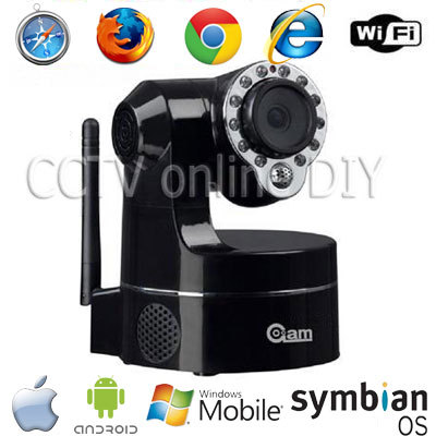 Home CCTV 3.6mm Day and Night Pan/Tilt Indoor Wireless Wifi IP IR Camera Support 3G Mobile View(China (Mainland))