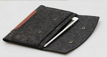 Simple Style Wool Felt & PU Leather Sleeve Case For iPad/iPad 2/3/4 iPad AIR/AIR2 Tablet Universal Laptop Bags & Sleeves