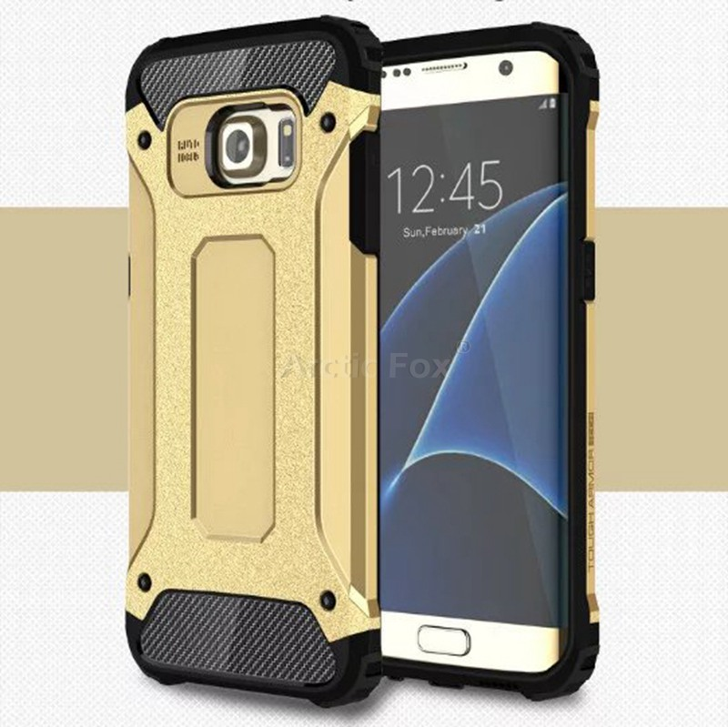 Hybrid Dual Heavy Duty Armor Case Cover for Samsung GALAXY S7 Edge SM-G9350 Back Cover Silicone+Plastic Anti-Knock Phone Cases(China (Mainland))