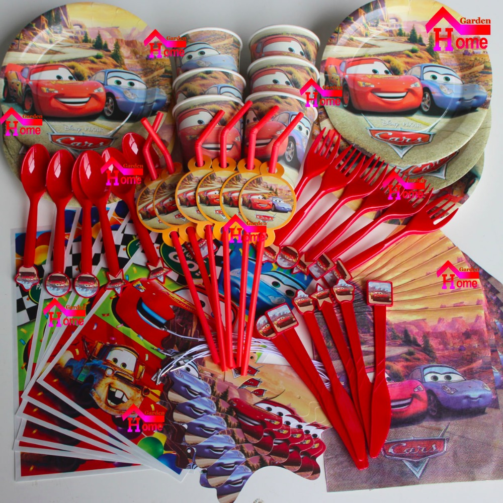 116pcs cars New Kids Birthday Party Decoration Set Birthday cars Theme Party Supplies Baby Birthday Party Pack for 12 people(China (Mainland))