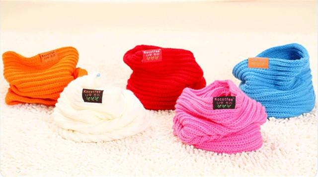 10pcs/ lot Baby Knitting O Ring Scarves New Style Designer Muffler Scarf Kids Girl Autumn Winter Neck Warmer Gift Free Shipping
