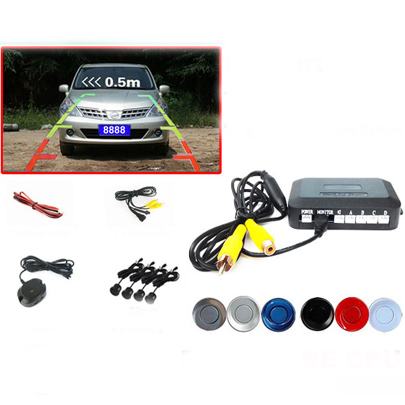 Free Shipping, Dual Core CPU Car Rearview Parking Sensor Video System Can Connect Rear View Camera . Show on Car Monitor(China (Mainland))