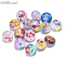 20pcs/lot Mixed Colors Snow White Pricess 18mm snap button Jewelry Faceted glass Snaps Fit snap Bracelet ginger snap jewelry(China (Mainland))