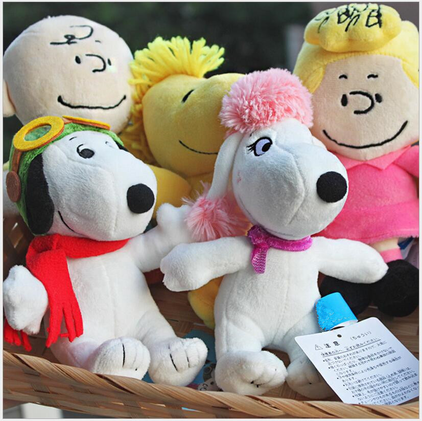 Hot Sell new and creative Child Plush toys SNOOPY Snoopy plush Dolls small pendant movie Five models Child gifts Free Delivery(China (Mainland))