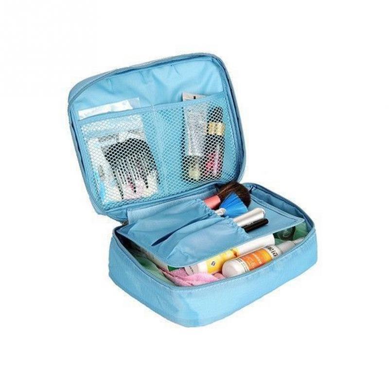 New arrivel Nylon Zipper New Women Makeup bag Cosmetic bag Case Make Up Organizer Toiletry bag kits Storage Travel Wash pouch