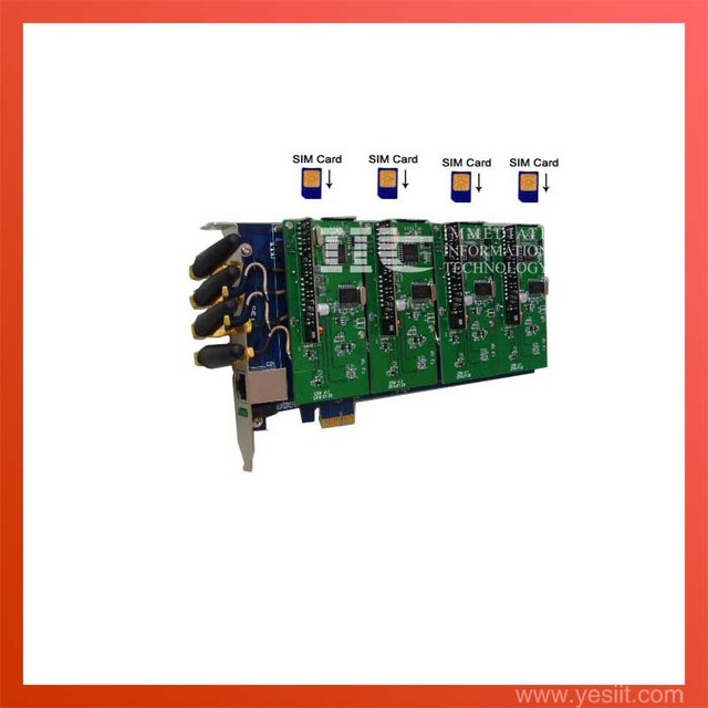 Asterisk card G400E 4 ports GSM channels  PCI-E card for voip elastix trixbox IP PBX support IMEI change