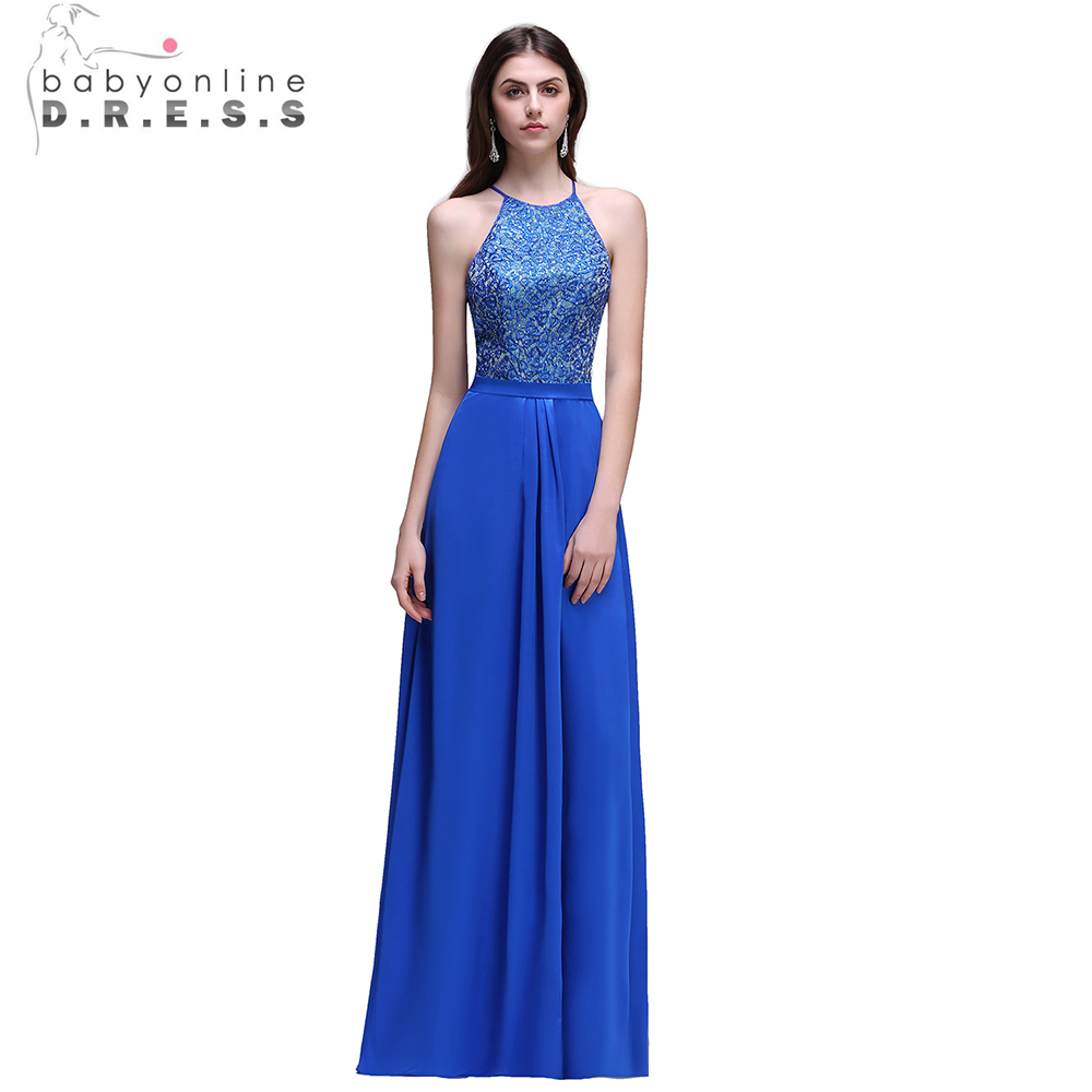 Online buy wholesale hepburn bridesmaid dresses from china hepburn babyonline royal blue lace chiffon women bridesmaid dresses long 2017 sexy halter keyhole back wedding party ombrellifo Images