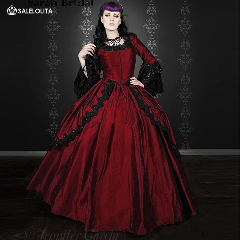 Popular vampire ball gowns buy cheap vampire ball gowns for Red and black wedding dresses for sale