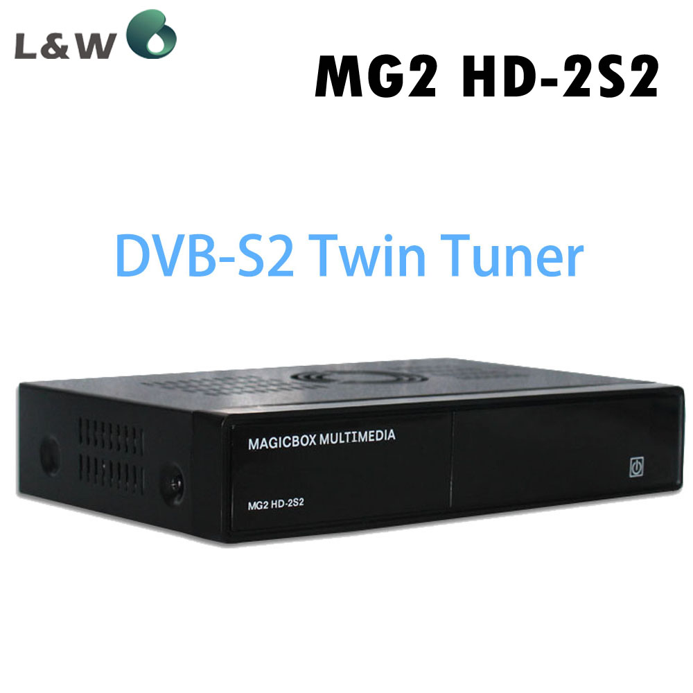 Magicbox MG2 HD 2S2 Satellite Receiver Linux OS DVB-S2 Twin Tuner 400 MHz MIPS Processor RAM 384MB ROM 128MB Free Shipping(China (Mainland))