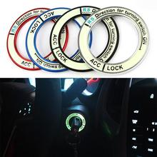 Luminous alloy Car Ignition Switch cover auto car accessories stickers For TOYOTA 2014 COROLLA And 2014 LEVIN HA10598(China (Mainland))