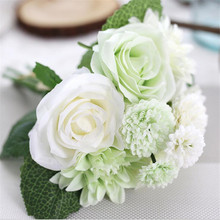 Buy High Quality fleurs artificiel 10 heads/bouquet Roses Dahlias Artificial Flowers fake flowers Wedding Home Party Decoration for $5.39 in AliExpress store