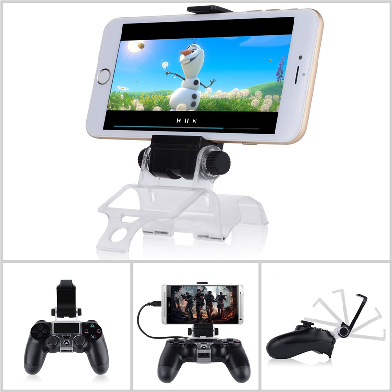 Manette ps4 180 degree phone gaming clip clamp mount for Housse manette ps4