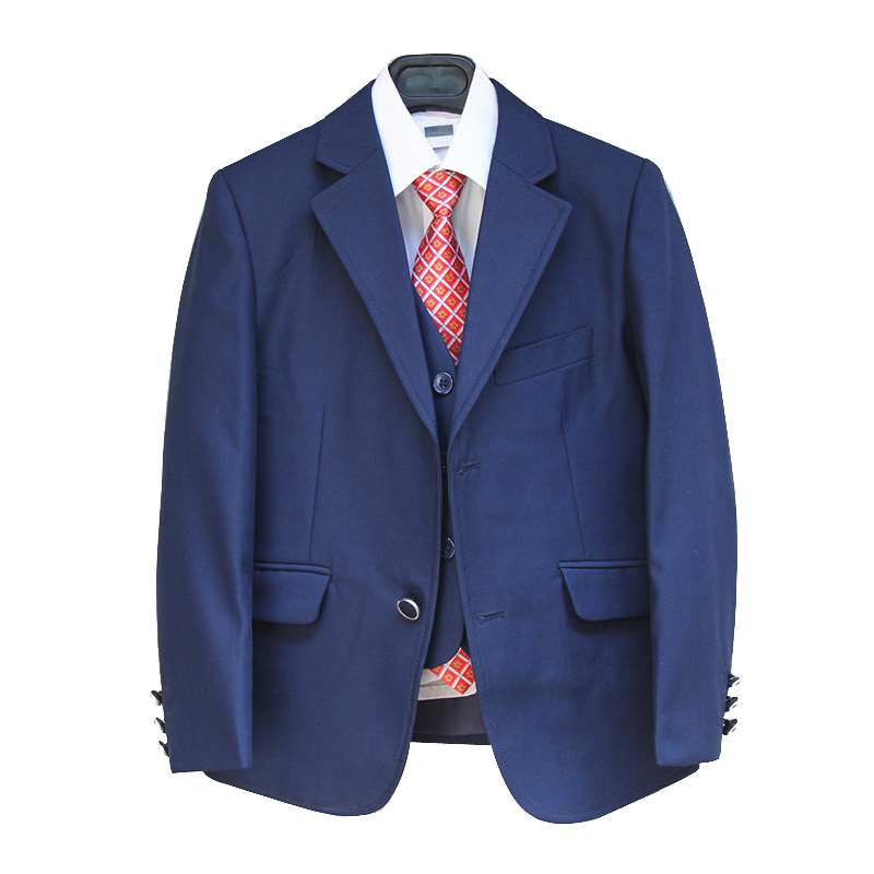Blue Blazers For Boys Suits For Weddings Kids 3 Pieces Tuxedo Suit Formal Dress Terno Menino ...