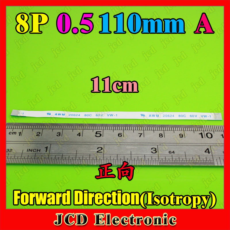 50pcs 8p 110mm 0.5 A Forward (Isotropy) FFC/FPC flat Cable 6-core 11cm 0.5 FFC Flat Ribbon Cable for HP Laptop DV series(China (Mainland))