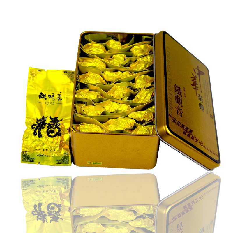 Tea Oolong Tikuanyin High end Gift Box Packaging Qing Scent Of Tea Anxi Tieguanyin Traditional Process