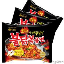 Super Spicy Chicken Noodles Korean Noodle BULDAKBOKEUM Ramyun Ramen-3PCS(China (Mainland))