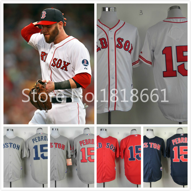 Dustin Pedroia #15 Baseball Jersey Boston Red Sox Men's Cheap Authentic Sports Jerseys Stitched Embroidery Logo(China (Mainland))