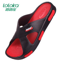 2016 Home slippers non-slip floor slipper male drag slippers beach sandals bathroom slippers soft and comfortable non-slip 41-45(China (Mainland))