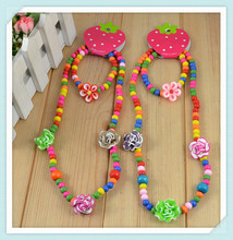Fashion Handmade children jewelry sets!Kid's Flower Necklace products Gift Collocation Baby clothes N Wholesale CS62(China (Mainland))