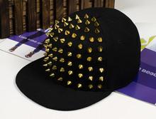 Fashion punk rivets hip hop flat along baseball caps peaked hats Snapback caps for man and woman free shipping(China (Mainland))