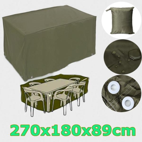 Гаджет  6 Seater Waterproof Furniture Set Cover Shelter Patio Garden Rectangular Rain 270x180x89cm None Мебель