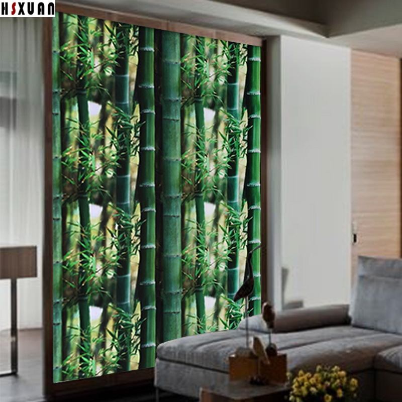 No glue electrostatic Window stickers 92x100cm PVC bamboo Frosted decorative Opaque removable tint window film sunscreen 922101(China (Mainland))
