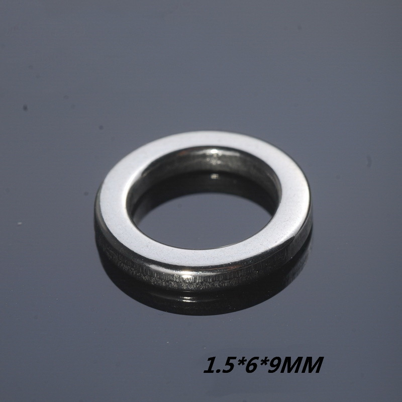 Stainless Steel Fishing Ring Size 5# 1.5*6*9MM Singleturn Connector Seamless Loop Boat Fishing(China (Mainland))
