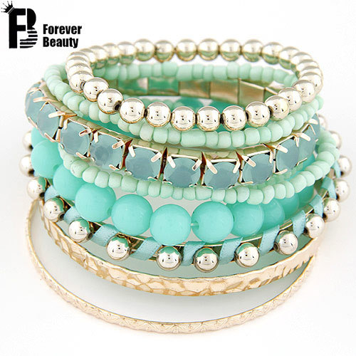 Designer Bohemian Candy Color Multilayer Beads Bracelet Bangles jewelry for women Spring 2015 gift pulseras mujer wrist band(China (Mainland))