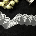 Width 5cm Lognth 20 yards Novelty DIY lace fabric White mesh embroidery lace fabric diy clothing