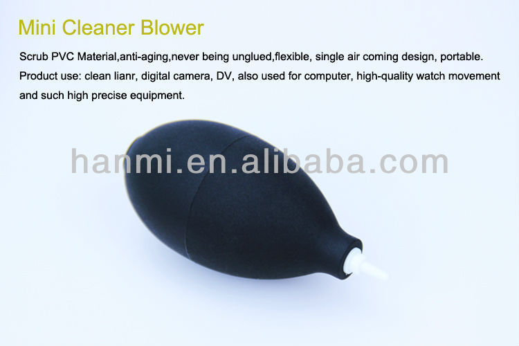 Free Shipping +Tracking Number 2pcs/Lot New Mini PVC Dust Blower for All Digital Camera Lens(China (Mainland))