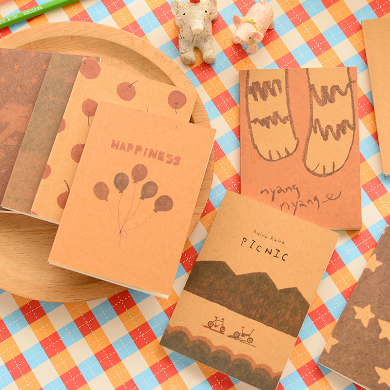 12.5 X 9cm 1 Pics Mini Cute Notebook Planner Sketchbook Diary Note Book School Supplies(China (Mainland))