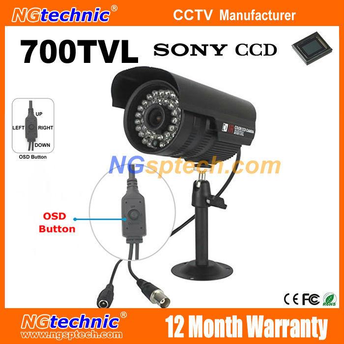 700TVL Security Camera 1/3'' Sony Effio CCD Night Vision Color Image With OSD Menu Button Waterproof Outdoor IR 960H CCTV Camera(China (Mainland))