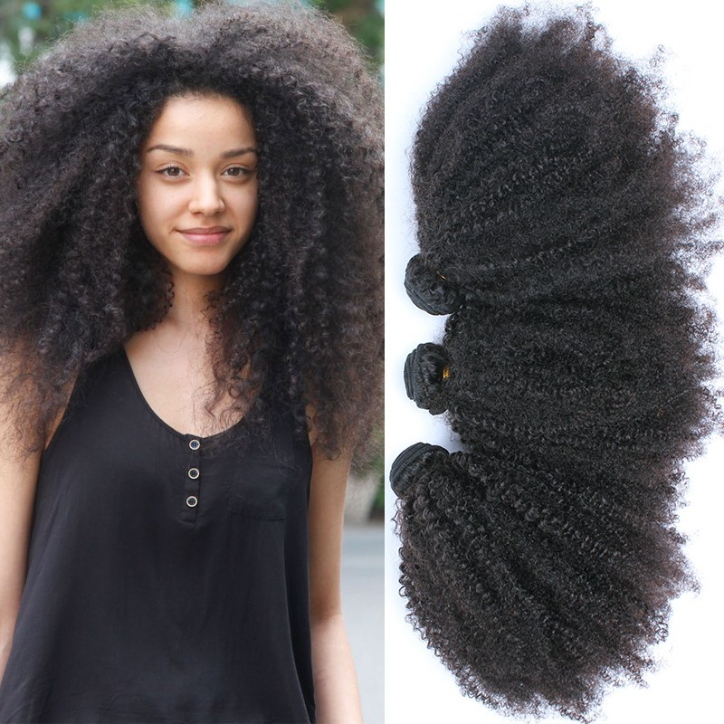 6A Mongolian Kinky Curly Hair 3pieces/lot Afro Kinky Curly Virgin Hair Rosa Hair Products Human Hair Weaves Natural Black