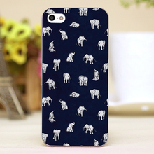 Indian Baby Elephants in Navy Design transparent case cover cell mobile phone cases for Apple iphone 6 6plus hard shell