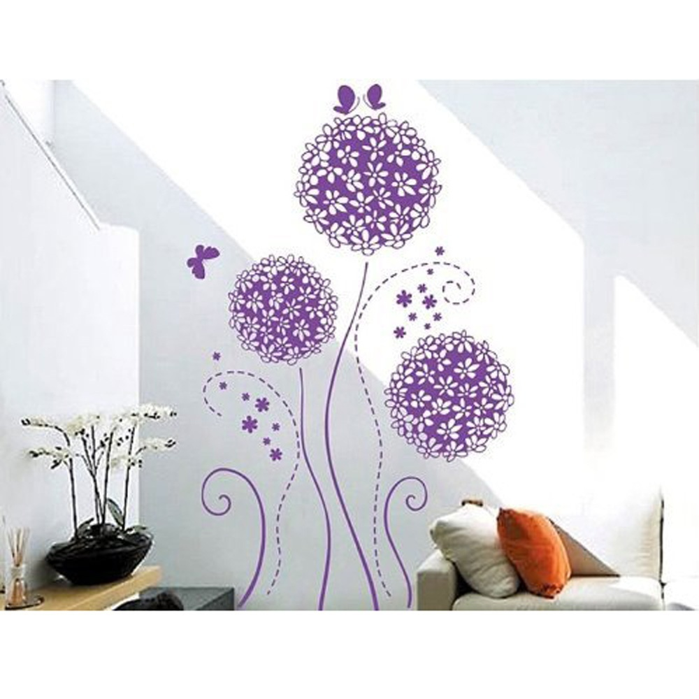 and butterflies wall decals floral removable wall stickers murals
