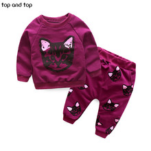 Buy New Fashion 2017 spring autumn Children Outfits Tracksuit Girls Clothing Sets Long Sleeve Top+Pants Sport Suit kids Clothes suit for $10.63 in AliExpress store