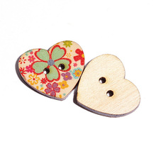 Buy 100PCs Wooden Buttons Mixed Color Heart Pattern Decorative Buttons 2 Holes Fit Sewing Scrapbooking Craft DIY 25mm Hot Sa for $2.51 in AliExpress store