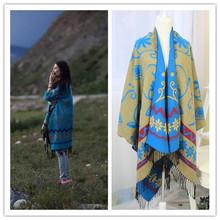 2014 Winter Fashion Woman Scarf Cashmere Scarf Shawl Geometric Pattern 180*130CM Free Shipping