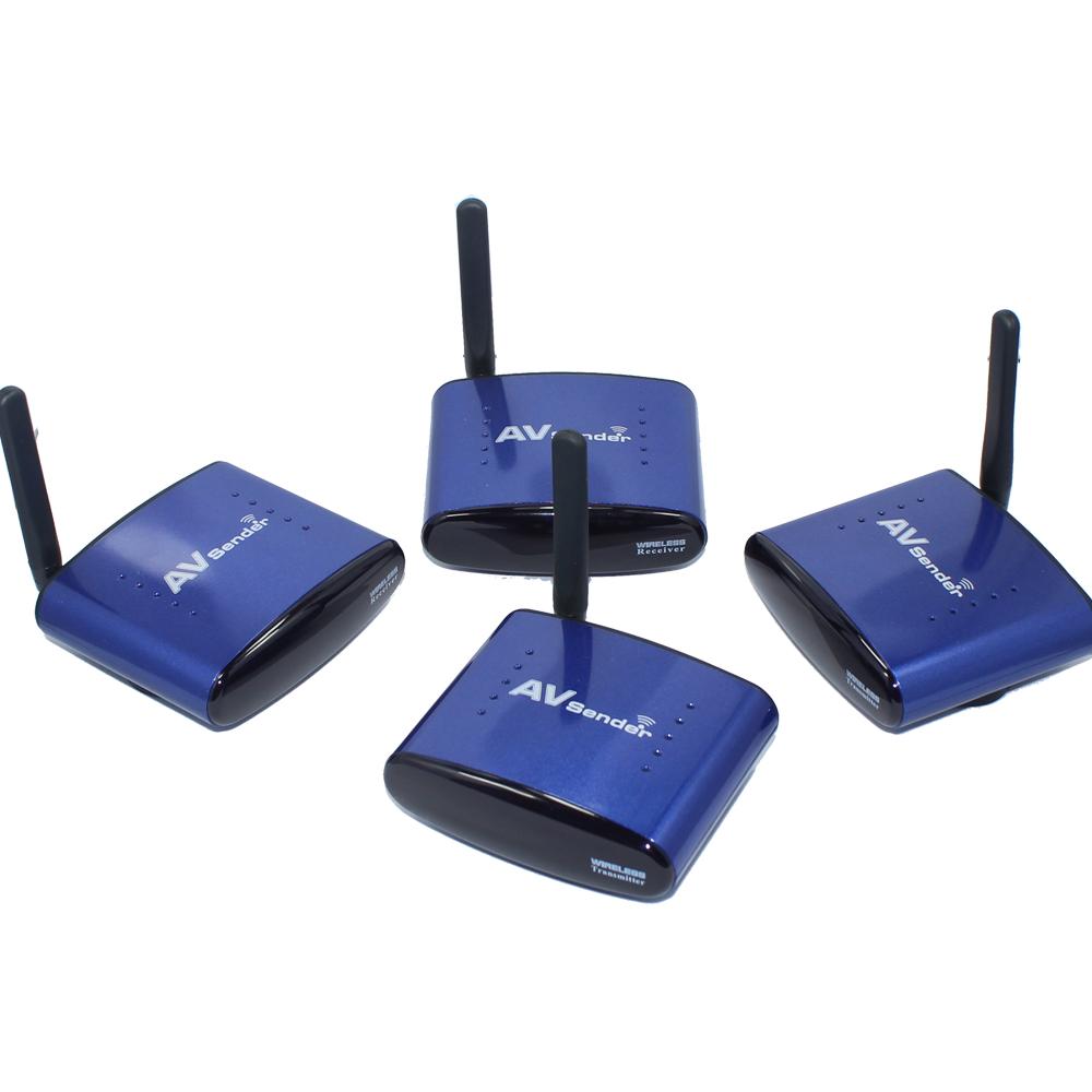 5.8G AV Sender Wireless 1 Transmitter&2Receiver 200meters AV Wireless Transmitter Receiver PAT530 free shipping(China (Mainland))