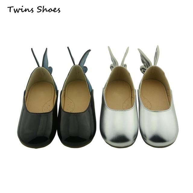 2016 новая весна лето крыло обувь дети принцесса обувь для девушки милые квартиры ...