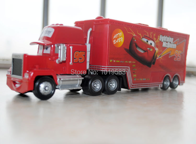 Free Shipping 100% Brand New Original 1/55 Scale Pixar Cars 2 Toys Mack Hauler Truck Diecast Metal Car Toy For Children(China (Mainland))