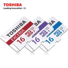 100% Original Toshiba 16G Micro SD Card Class 10 SDHC UHS-1 16GB TF Card Flash Memory Microsd Smartphone Official Verification