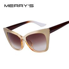 MERRY'S Brand Designer Women Cat Eye Sunglasses Women Good Quality Gradient Sunglasses UV400 Sun Glasses(China (Mainland))